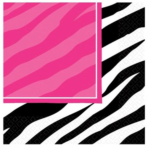 Pandoli Siyah Zebra Partisi Peçete 16 Adet