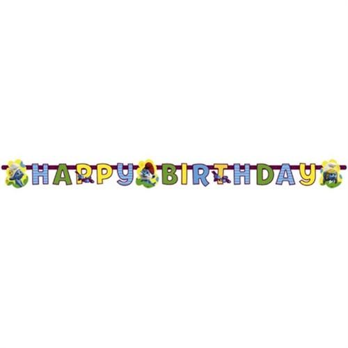 Pandoli Şirinler Movie 2 Happy Brithday Banner