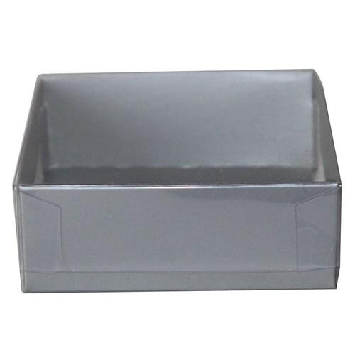 Pandoli Gümüş Renkli Karton Kutu 8 Cm