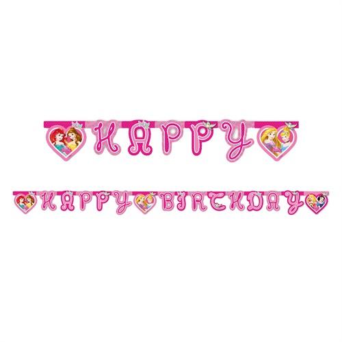 KullanAtMarket Prenses Düşler Happy Birthday Harf Afiş 1 Adet