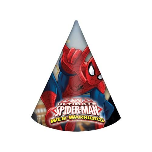 KullanAtMarket Spiderman Savaşçı Külah Şapka 6 Adet