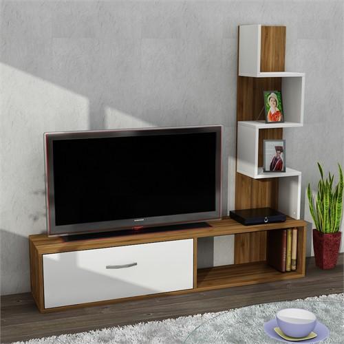 Dekorister Akay Tv Ünitesi Ceviz/Beyaz