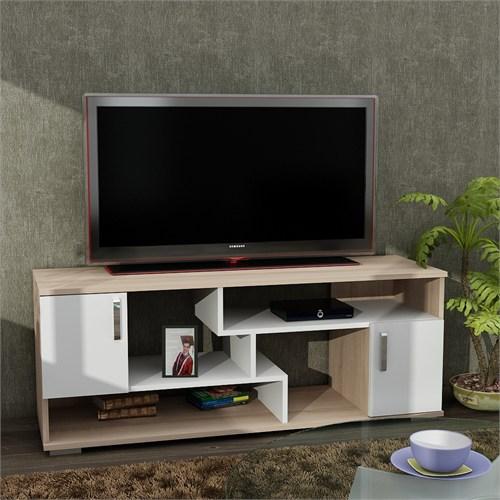 Dekorister Leroy Tv Ünitesi Beyaz/Somon