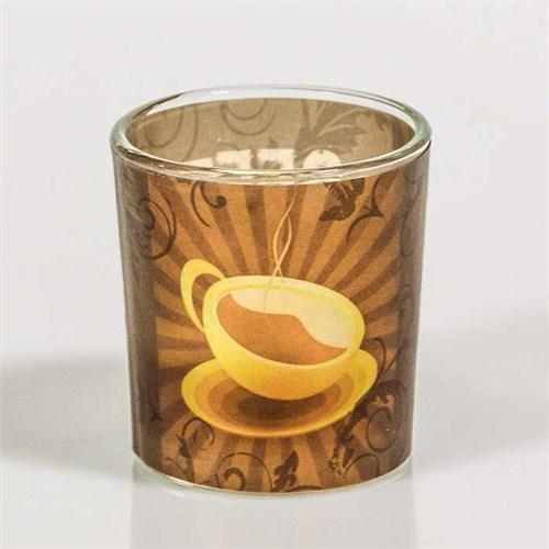 Coffeetime Kahve Ve Fincan Deseli Mumluk