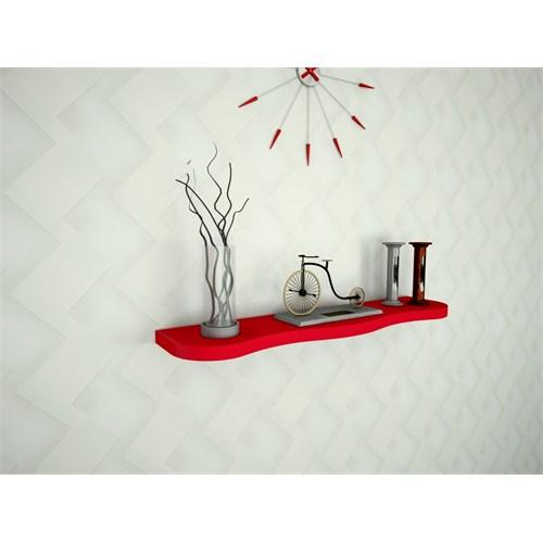 Ankara Mobilya Renkli Duvar Rafı Kırmızı