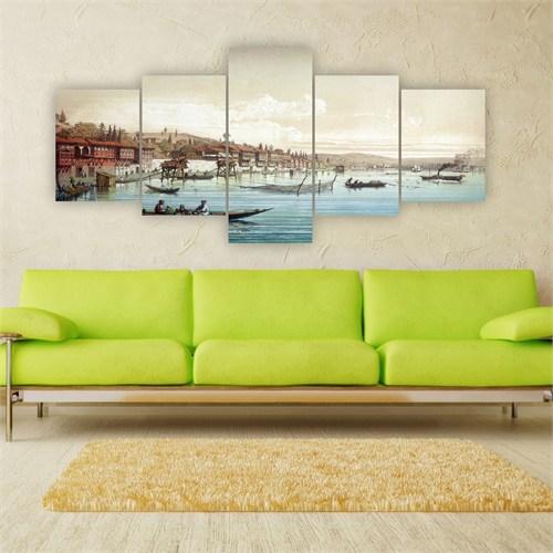 Tablo İstanbul 150X70 Cm Büyük Boy 5 Parçalı Kanvas Tablo-179