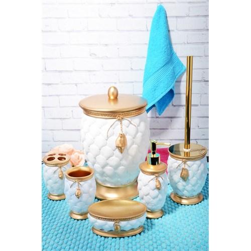 Lüx Kabartmali Polyester 6 Parça Banyo Takımı