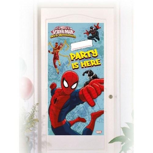 Parti Şöleni Spiderman Kapı Banner