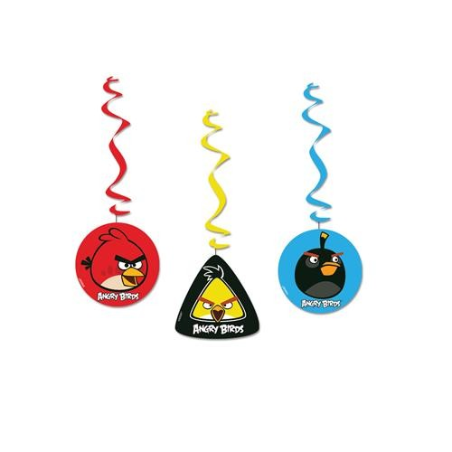 Parti Şöleni Angry Birds İp Süs 3 Adet