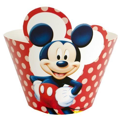 Parti Şöleni Mickey Cupcake Süsü 10 Adet
