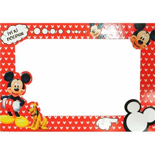 Parti Şöleni Mickey Mouse Doğum Günü Fotoğraf Çerçevesi