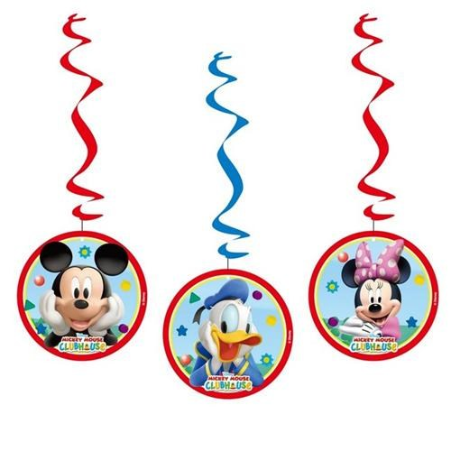 Parti Şöleni Mickey Mouse Tavan Asma Süs 3 Adet