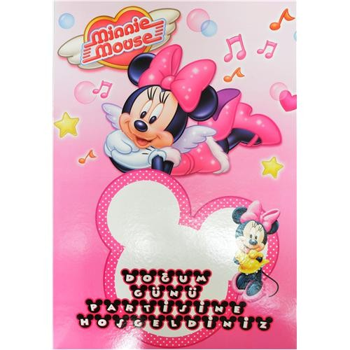 Parti Şöleni Minnie Mouse Hoşgeldin Panosu