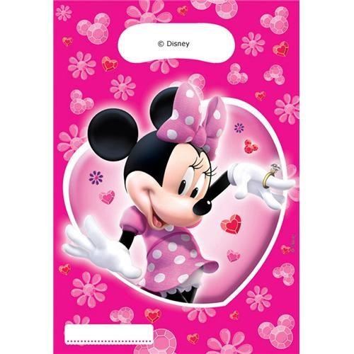 Parti Şöleni Minnie Mouse Parti Çantası 6 Adet