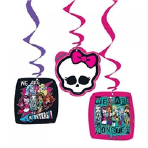 Parti Şöleni Monster High İp Süs 3 Adet