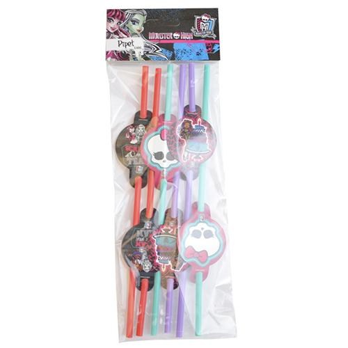 Parti Şöleni Monster High Pipet 6 Adet