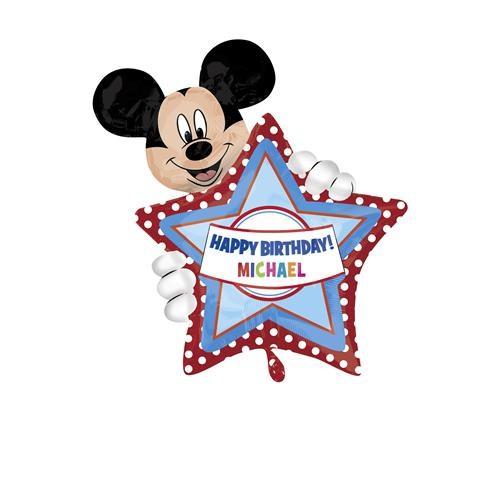 Parti Şöleni Mickey Mouse Kişiye Özel Folyo Balon 1 Adet