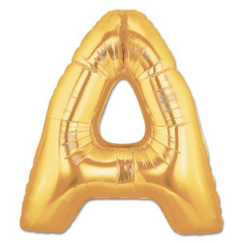 Parti Şöleni A Harf Folyo Balon Altın