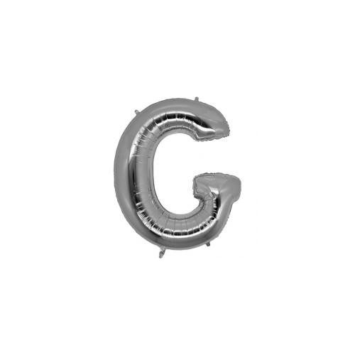 Parti Şöleni G Harf Folyo Balon Gümüş
