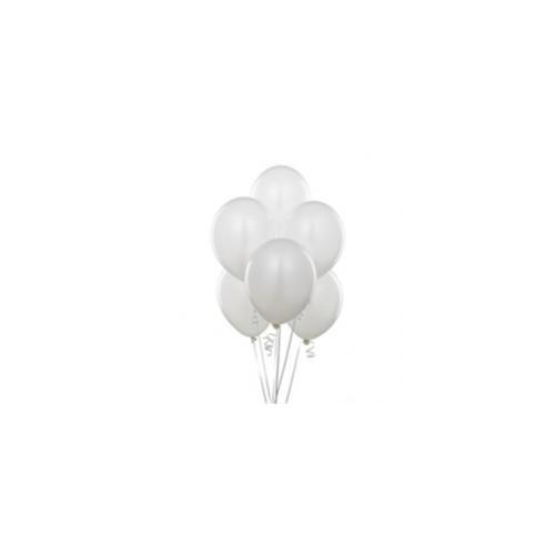 Parti Şöleni Metalik Beyaz Balon 20 Adet