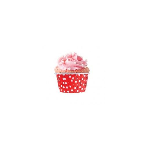 Parti Şöleni Kırmızı Puanlı Muffin Kek Kapsülü