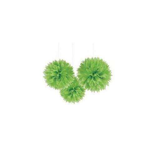 Parti Şöleni Ponpon Çiçek Yeşil 6 Adet