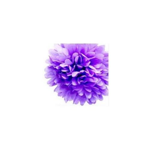 Parti Şöleni Ponpon Çiçek Süs Mor 1 Adet