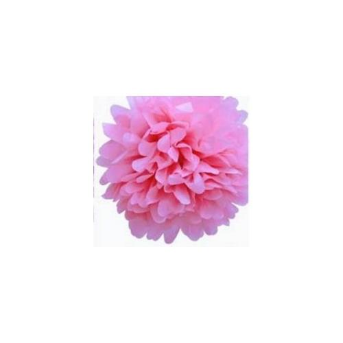 Parti Şöleni Ponpon Çiçek Süs Pembe 1 Adet