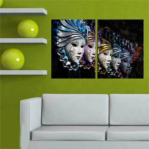 Canvastablom İ701 Venedik Maskeleri Tablo