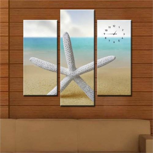 Canvastablom Cl301 Deniz Yıldızı Saatli Tablo