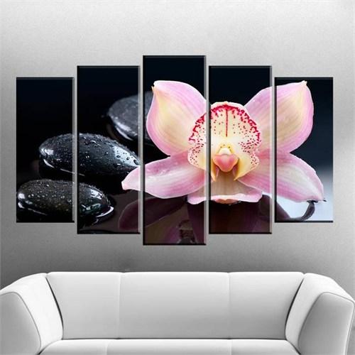 Canvastablom B45 Taş Ve Çiçek Parçalı Canvas Tablo
