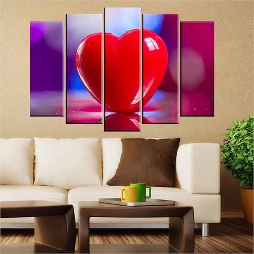 Canvastablom B69 Kalp Parçalı Canvas Tablo