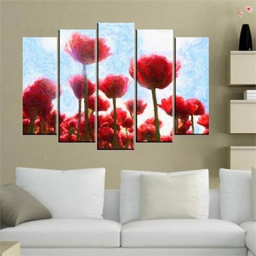 Canvastablom B83 Flowers Parçalı Kanvas Tablo