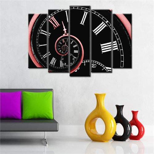 Canvastablom B209 Dekoratif Saat Görünümlü Parçalı Tablo