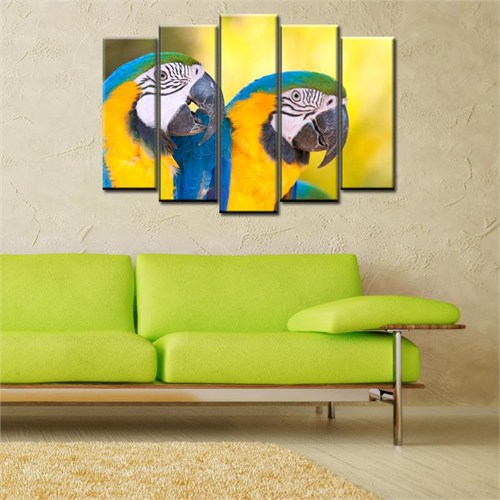 Canvastablom B225 Papağanlar Parçalı Kanvas Tablo