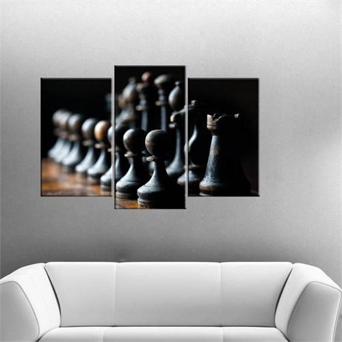 Canvastablom Ü16 Satranç Taşları 3 Parçalı Tabl