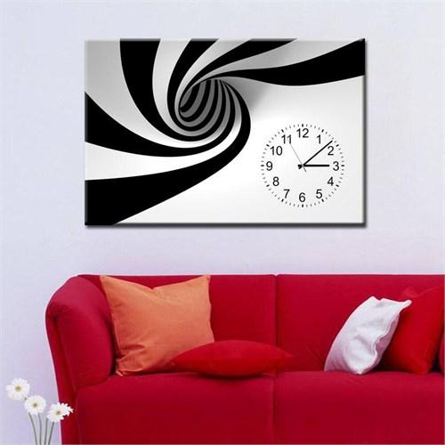Canvastablom Cl111 Siyah Beyaz Saatli Tablo