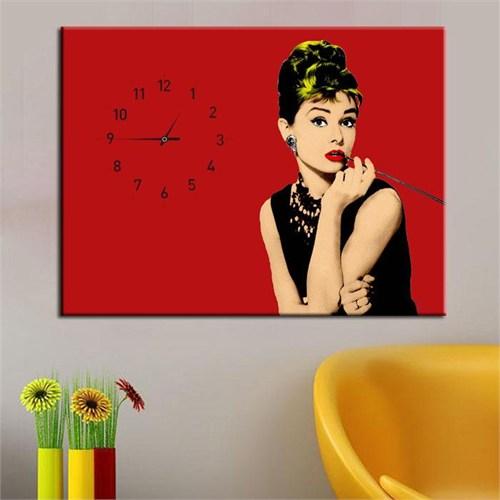 Canvastablom Cl112 Audrey Hepburn Pop Art Saatli Tablo