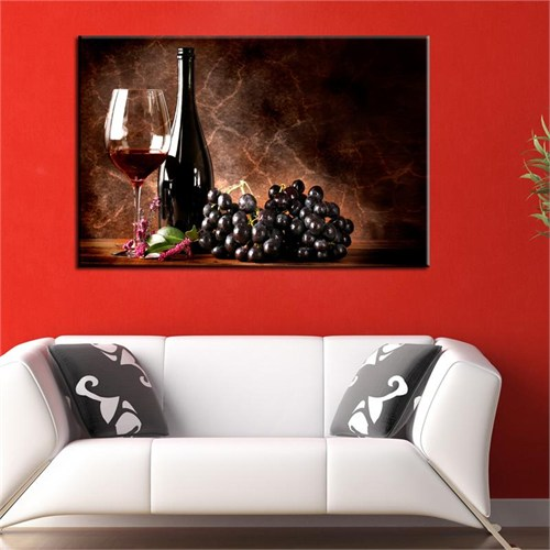 Canvastablom T372 Üzüm Şarabı Kanvas Tablo