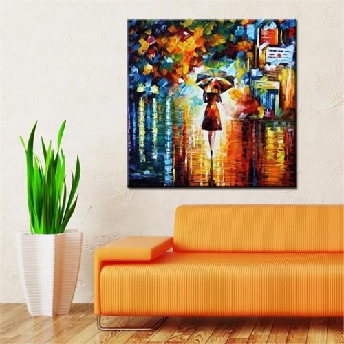 Canvastablom Kr139 Şemsiyeli Kadın Kanvas Tablo