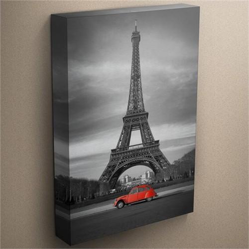 Canvastablom T3 Eyfel Kulesi Kırmızı Araba Kanvas Tablo