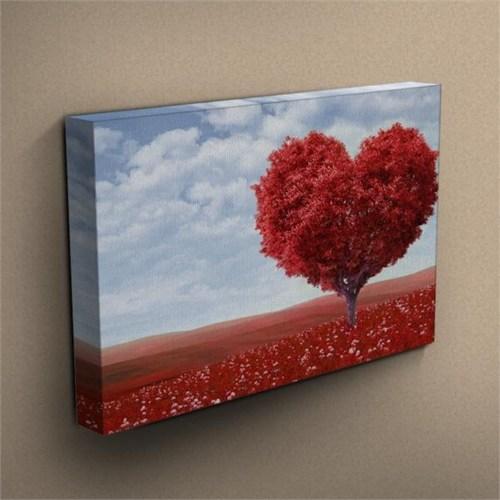 Canvastablom T197 Kalp Şeklinde Ağaç Kanvas Tablo