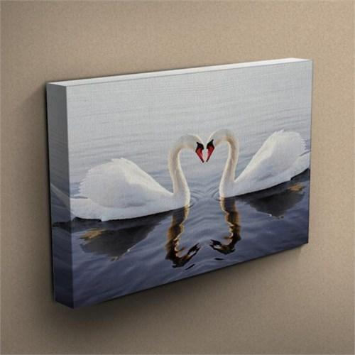 Canvastablom T205 Love Kuğular Kanvas Tablo