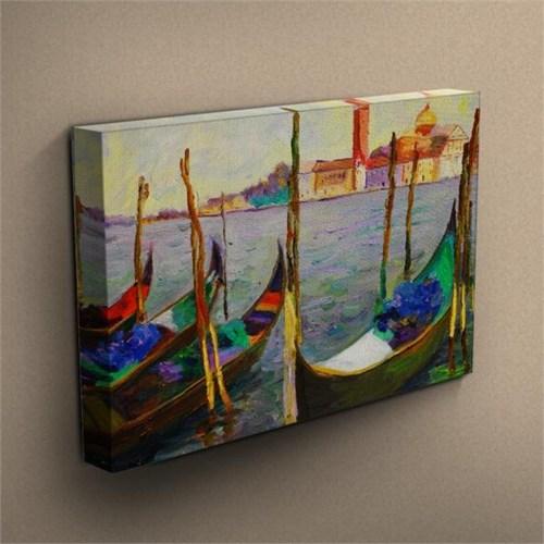 Canvastablom T250 Kayıklar Yağlı Boya Kanvas Tablo