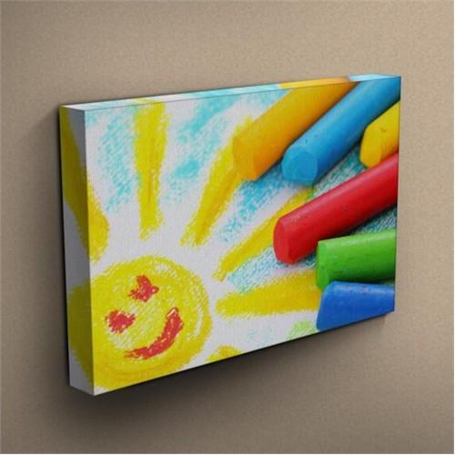 Canvastablom T288 Renkli Tebeşirler Kanvas Tablo