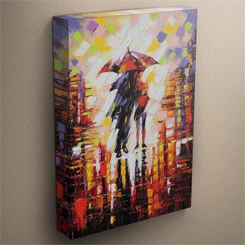 Canvastablom T304 Şemsiye Altında Sevgililer Kanvas Tablo