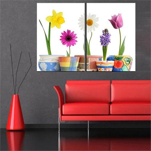 Canvastablom İ35 Saksıdaki Çiçekler Parçalı Tablo