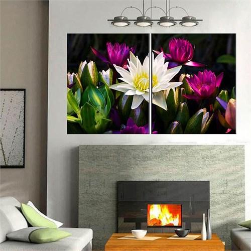 Canvastablom İ58 Sanatsal Çiçekler Parçalı Tablo