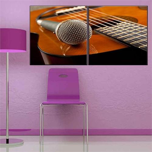 Canvastablom İ303 Gitar Ve Mikrofon Parçalı Tablo