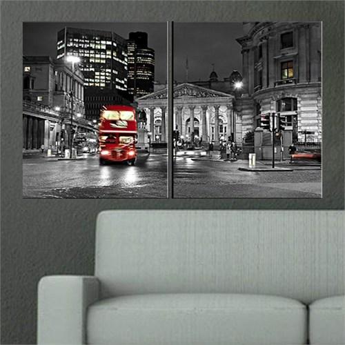 Canvastablom İ391 Londra Siyah Beyaz Parçalı Tablo